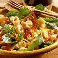 Good Housekeeping Tortellini salad.  I   I added salami chunks, chives and basil. Http://www.goodhousekeeping.com/recipefinder/tortellini-salad-1155