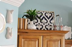 kitchen cabinet decorations top - Google Search