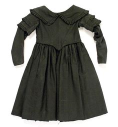 Mourning dress Date: 1844 Culture: probably American Medium: silk, wool