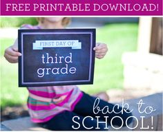Free First Day of School Printables - Perfect for Photos!