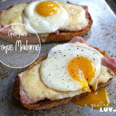 Open Face Croque Madame | GastroLuv