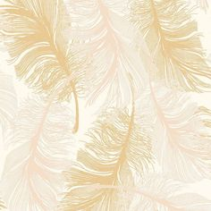 Coloroll Feathers Blown Vinyl Wallpaper Cream Gold Glitter (M0926) - Coloroll from I love wallpaper UK