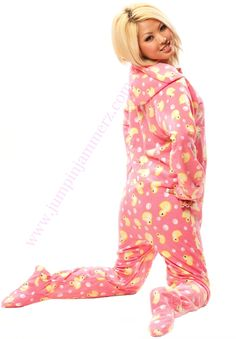 Adult Onesie s perfect baby pink duck footed onesie pajamas! Made with  ultra soft polar fleece a01bab5b3