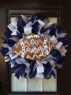 Custom Dallas Cowboys wreath by Glitzy Wreaths