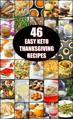 If you are looking for a few easy keto Thanksgiving recipes, I have 46 for you! There is everything from low carb cocktails to keto desserts. There are even 3 ways to cook a turkey breasts!
