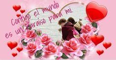Crea tu tarjeta con foto más romántica para enviar a tu pareja, una imagen de corazones bonitos en la que podrás escribir unas bonitas palabras de amor.