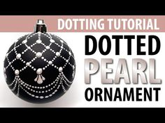 Dotted Christmas Ornaments - Dotted Ornaments with a Classic Pearl Lace Design Happy Holidays! In this video we'll dot a matte black Christmas ornament with . Gold Christmas Decorations, Painted Christmas Ornaments, Ornaments Design, Beaded Ornaments, Beaded Crafts, Diy Ornaments, Ornament Crafts, House Decorations, Christmas Mandala