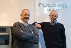 New partnership! (Left ,Nigel Jacobs for Euroline and on the right Antonio Brotto for Fulgor Milano )
