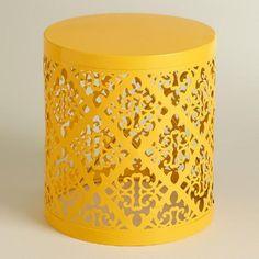 Yellow Lailani Stool | World Market