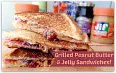 My family has been making our peanut butter and jelly sandwiches this way for years. I think if you ask my kids if they want a pb&j, they'd probably expect it be grilled. What's not love about melted peanut butter! #recipes #peanutbutter #snacks #sandwiches - http://www.savingeveryday.net/2014/01/grilled-peanut-butter-jelly-sandwiches/