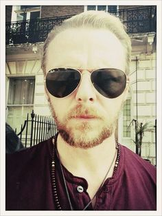 """"""" I think my beard is out of control and I like it """" Simon Pegg on Twitter. Who doesn't!? :)"""