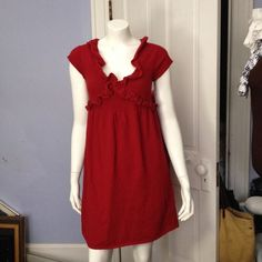 Knitted knotted red dress Knitted knotted red dress. Like new, worn once, in great condition. Knitted knotted Dresses Midi