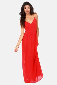 9c012dca1de LULUS Exclusive Rooftop Garden Backless Red Maxi Dress at LuLus.com! Sexy  Backless Dress