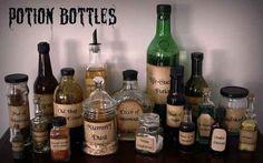 Make your own potion bottles.