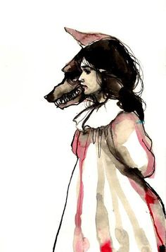 Illustration #red riding hood