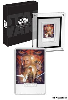 STAR WARS POSTER THE PHANTOM MENACE 2018 1 oz Pure Silver Coin NZ MINT