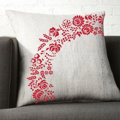 new modern kalocsai hungarian embroidery pillowcase pattern | Etsy