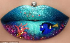 Finding Dory: Jazmina Daniel, also known as Miss Jazmina D on Instagram , has shot to fame for her incredible lip art skills
