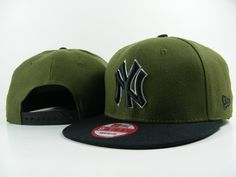New Era MLB New York Yankees Army Green Black Snapback Hats Caps 3709|only US$8.90