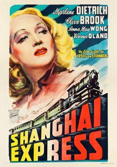 Shanghai Express (Josef von Sternberg, 1932) Italian 4-foglio design by Angelo Cesselo
