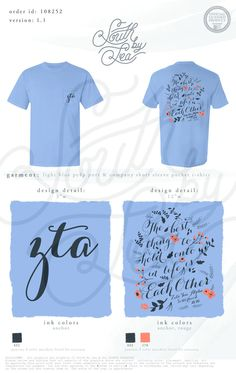 Zeta Tau Alpha | ZTA | The Best Thing to Hold Onto in Life is Each Other | Inspiring Quote T-Shirt Design | Script T-Shirt | Floral Shirt Design | the South by Sea | Greek Tee Shirts | Greek Tank Tops | Custom Apparel Design | Custom Greek Apparel | Sorority Tee Shirts | Sorority Tanks | Sorority Shirt Designs
