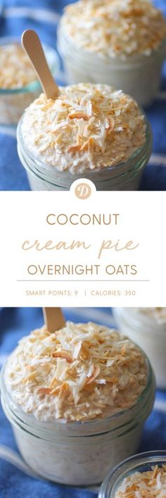 Could You Eat Pizza With Sort Two Diabetic Issues? Coconut Cream Pie Overnight Oats With Gluten Free Options Brunch Recipes, Breakfast Recipes, Breakfast Smoothies, Drink Recipes, Juicer Recipes, Breakfast Sandwiches, Salad Recipes, Overnight Oatmeal, Overnight Oats With Water