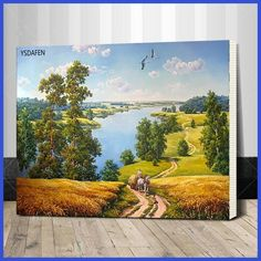 Assembly frame Wall Pictures Paint by Numbers DIY Landscape Decoracion hogar Coloring by Art Numbers Painting Canvas