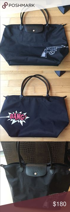 Longchamp Le Pliage Bang Large, nylon tote. One main zippered compartment with flap and one front pocket. 30x28x20cm. Only used once and in perfect condition Longchamp Bags Totes