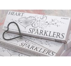 Heart Shaped Sparklers - these could look cool at night on the terrace!