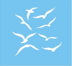 Seagulls Stencil 10 x 10 Burlap pillows Stencil Feedsack pillow Stencil Allover stencil