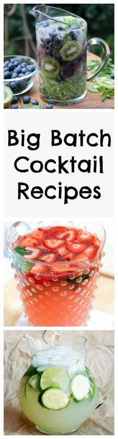 Big Batch Crowd Cocktail Recipes | Quench your thirst with these picture-perfect big batch crowd-pleasing cocktails! #cocktailrecipes