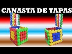 Manualidades/ Como Hacer una canasta con tapas recicladas /RECICLAJE - YouTube
