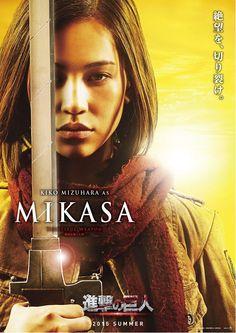 "Attack on Titan / Shingeki no Kyojin Live Action Cast: Kiko Mizuhara as Mikasa Ackerman ""Beautiful Weapon"""
