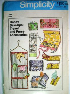 Simplicity 7735 Handy SewUps Travel and Purse by PatternsAndSuch, $5.00