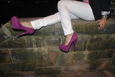 Purple suede.