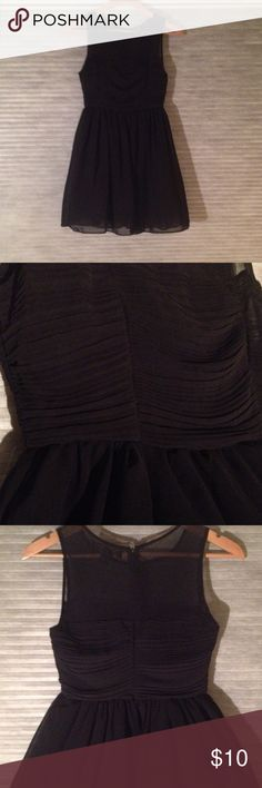 Forever 21 sheer dress Sheer black dress right for any occasion. Half zip down the back with lining from the waist down.31 total length. Forever 21 Dresses Midi