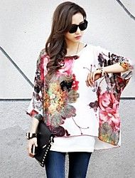 Zian Women's Round Neck Flower Print Loose Blouse & Vest. Get incredible discounts up to 70% Off at Light in the Box using Coupons.