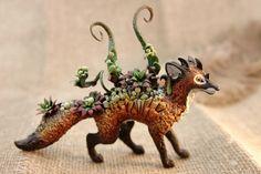 Succulent Red Fox Sculpture by nicsadika.deviantart.com on @DeviantArt