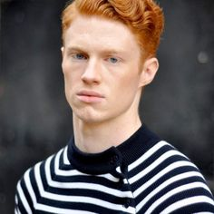 Enjoy the curated collection of inspired fashion from redhead and ginger men from Famous Outfits! Included are a variety of great looks for redheads. Hot Ginger Men, Ginger Boy, Red Head Boy, Fiery Red Hair, Ginger Head, Redhead Men, Moustaches, Super Hair, Pale Skin