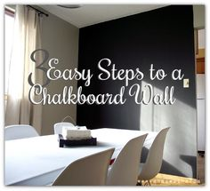 DIY Accent Wall : DIY 3 Easy Steps To A Chalkboard Wall Part 81