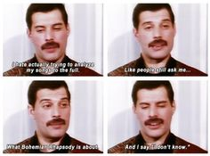 Freddie Mercury and your daily dose of words of wisdom.