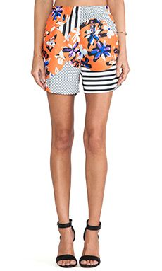 Clover Canyon Floral Discs Short in Orange | REVOLVE