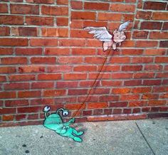 David Zinn Chalk | Chalk drawing by David Zinn. Photo by Dave Askins of the Ann Arbor ...