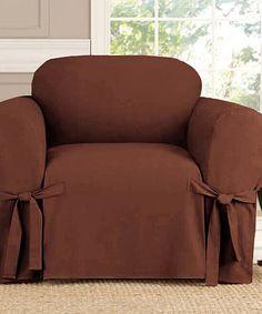 Superbe Brown Chair Slipcover #zulilyfinds