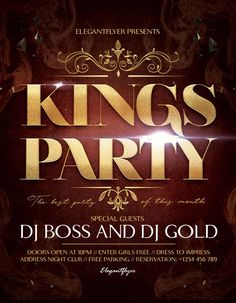 Kings Party Free Flyer Template - http://freepsdflyer.com/kings-party-free-flyer-template/ Enjoy downloading the exclusive Kings Party Free Flyer Template created by Elegantflyer!   #Anniversary, #Birthday, #Classy, #Dance, #Dj, #EDM, #Elegant, #Event, #Gold, #Party, #Pool, #Summer, #Typo, #Vip