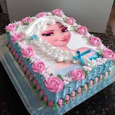 Barney Birthday, Birthday Cake For Mom, Birthday Wishes Cake, Frozen Birthday Cake, Frozen Cake, Princess Birthday, Bolo Mickey, Mickey Cakes, Bolo Barbie