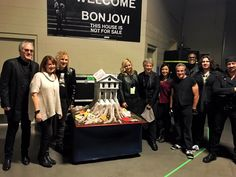 Bon Jovi presented with a cake at T-Mobile Arena in Las Vegas. Via @eliblogworld | Tumblr and @bonjovi | Twitter. #thishouseisnotforsale #THINFS THINFStour