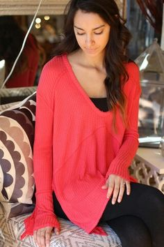 Love this burst of color on this free people top at shopagstyle.com.