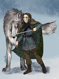 I don't want Arya to arrive at Winterfell on horseback… I want her to be riding Nymeria like the Wolf Queen she is. Reunited she wolf Game Of Thrones Artwork, Game Of Thrones Arya, Character Inspiration, Character Design, Game Of Thones, She Wolf, Fan Art, Film Serie, Arya Stark