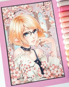 This is a gift commission for the lovely from a friend of hers that I was working on briefly since November last year ♡ Amazing Drawings, Beautiful Drawings, Cute Drawings, Manga Drawing, Manga Art, Anime Art, Copic Marker Art, Copic Art, Arte Copic